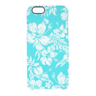 Impresión floral hawaiana de la camisa de hawaiana funda clearly™ deflector para iPhone 6 de uncommon