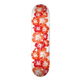 """Impresión floral hawaiana de la camisa de hawaiana patineta 7 3/4"""""""
