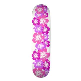 Impresión floral hawaiana de la camisa de hawaiana skateboards