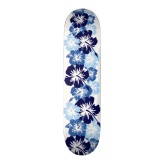 Impresión floral hawaiana de la camisa de hawaiana tablas de skate