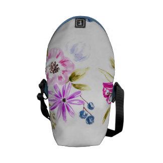 Impresión floral incompleta moderna bolsas de mensajería