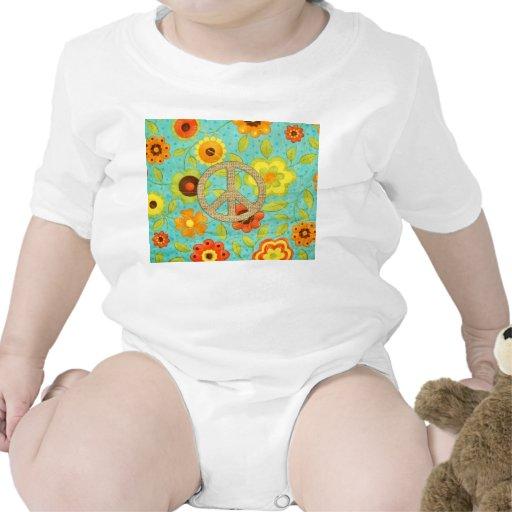 Impresión floral maravillosa femenina colorida de traje de bebé