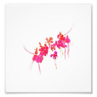 Impresión floral mínima cojinete