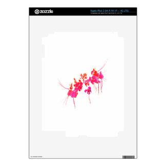Impresión floral mínima iPad 3 skins