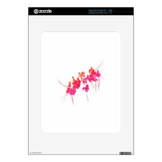 Impresión floral mínima skins para iPad