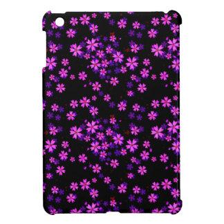 Impresión floral púrpura y negra linda de moda