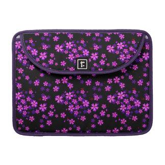Impresión floral púrpura y negra linda de moda funda para macbooks