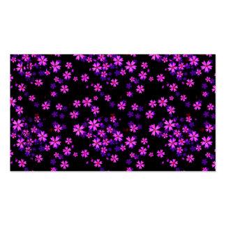 Impresión floral púrpura y negra linda de moda tarjetas de visita