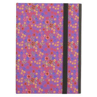 Impresión floral retra elegante en la caja magenta