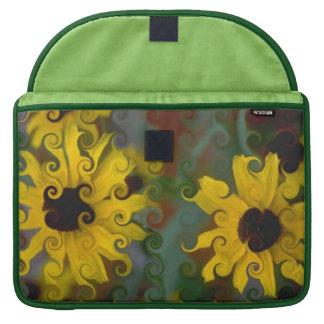 Impresión floral Rizado-Linda elegante Fundas Macbook Pro