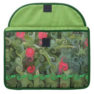 Impresión floral Rizado-Linda Fundas Para Macbook Pro