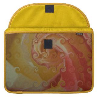 Impresión floral Rizado-Linda Fundas Macbook Pro
