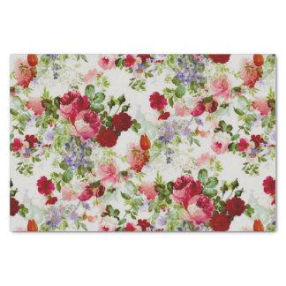 Impresión floral roja y rosada del vintage de moda papel de seda pequeño