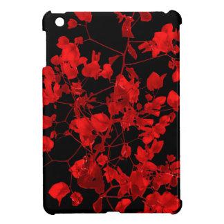 Impresión floral rojo oscuro