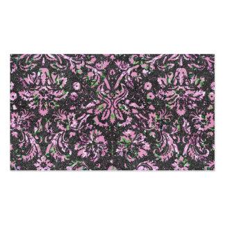 Impresión floral rosada femenina de moda del tarjetas de visita