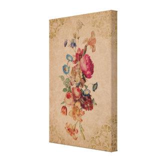 Impresión floral subió vintage bonito de la lona lienzo envuelto para galerias