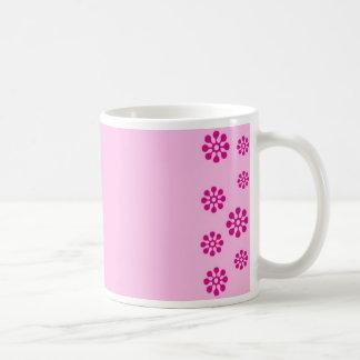 Impresión floral taza básica blanca