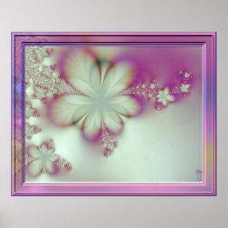 Impresión floreciente en colores pastel del arte d posters