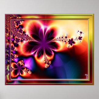 Impresión floreciente psicodélica del arte de la v impresiones