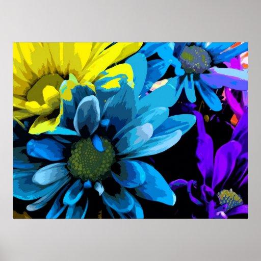 Impresión - flores brillantes 4724D Póster