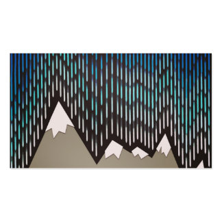 Impresión formada lluviosa azul de las montañas de tarjetas de visita