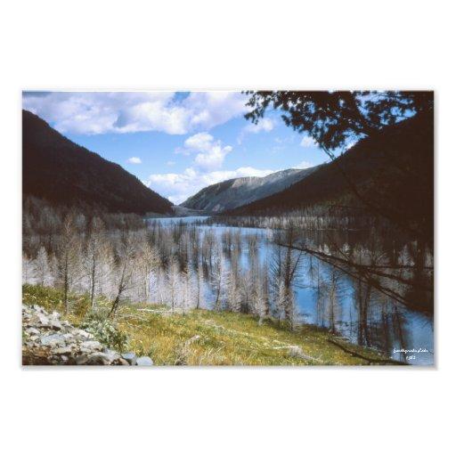 Impresión fotográfica 1962 de Montana del lago ear Fotografía