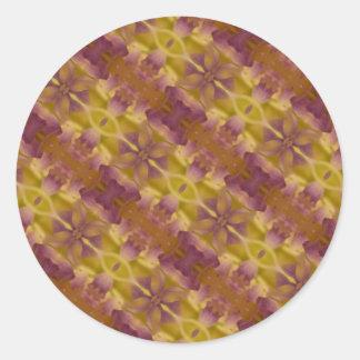 Impresión fotográfica abstracta de oro de Brown Pegatina Redonda