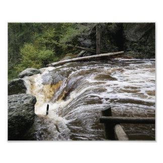 Impresión fotográfica corriente de las aguas 10x8