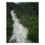 Impresión fotográfica de Alaska de la cascada 11x1 Posters