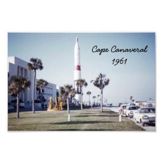 Impresión fotográfica de Cabo Cañaveral del vintag