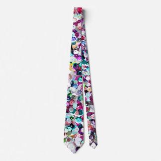 Impresión fotográfica de la lentejuela enorme corbata personalizada