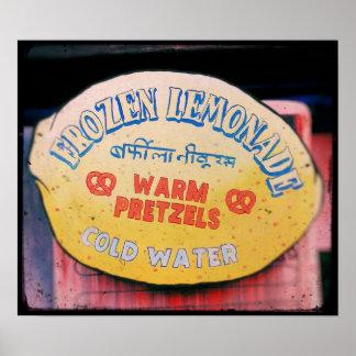 Impresión fotográfica de la limonada congelada póster