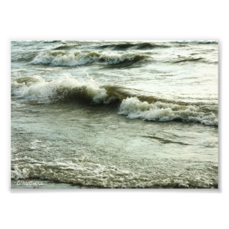 Impresión fotográfica de la resaca de los océanos
