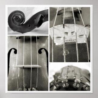 Impresión fotográfica de las piezas de una viola v