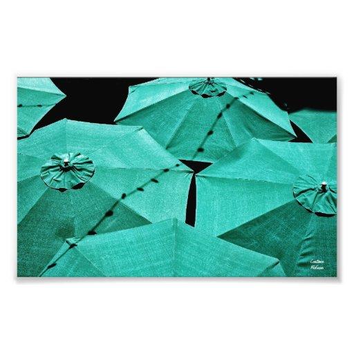 Impresión fotográfica de los paraguas del verano