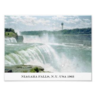 Impresión fotográfica de Niagara Falls Nueva York  Cojinete