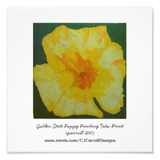 Impresión fotográfica de oro de la pintura de la a