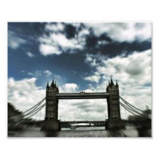 Impresión fotográfica de Reino Unido del puente de