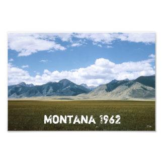 Impresión fotográfica del paisaje retro de Montana Fotografías