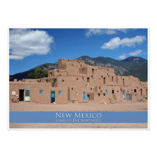 Impresión fotográfica del pueblo de Taos