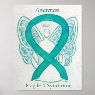 Impresión frágil del ángel de la cinta de la póster