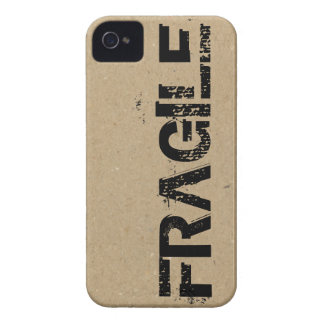 Impresión frágil en la cartulina Case-Mate iPhone 4 protector