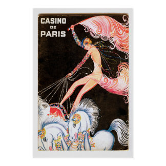 Impresión francesa del poster del cabaret del vint