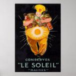 Impresión francesa del poster del cocinero del vin