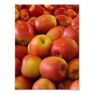 Impresión fresca de la foto de las manzanas