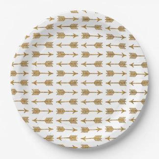 Impresión fresca de la foto del brillo de las plato de papel de 9 pulgadas