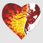 impresión fresca del fondo de la silueta del músic pegatina corazon personalizadas