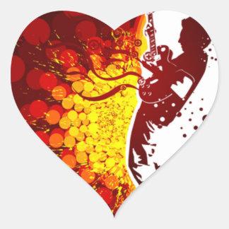 impresión fresca del fondo de la silueta del pegatina en forma de corazón