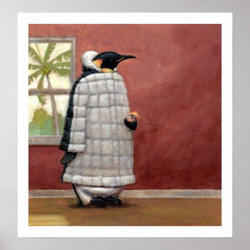 Impresión fresca del pingüino posters