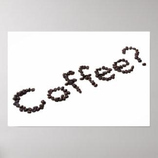 Impresión fresca del poster del logotipo del café